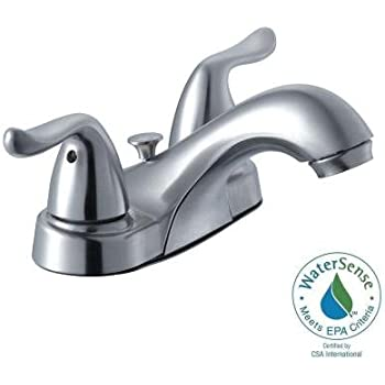 Glacier Bay Builders 4 In 2 Handle Low Arc Bathroom Faucet In