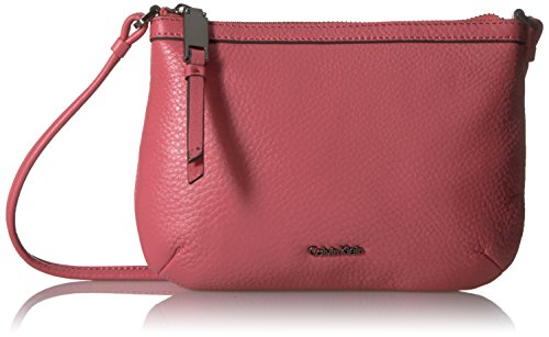 Calvin Klein Carrie Pebble Key Item Crossbody Cross Body, DAHLIA, One Size ()