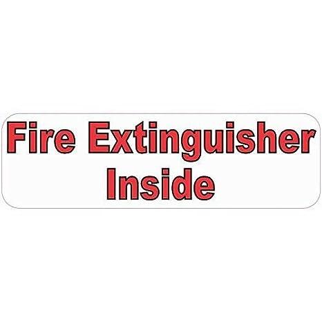 10 en x 3 en extintor dentro cartel adhesivo adhesivos ...