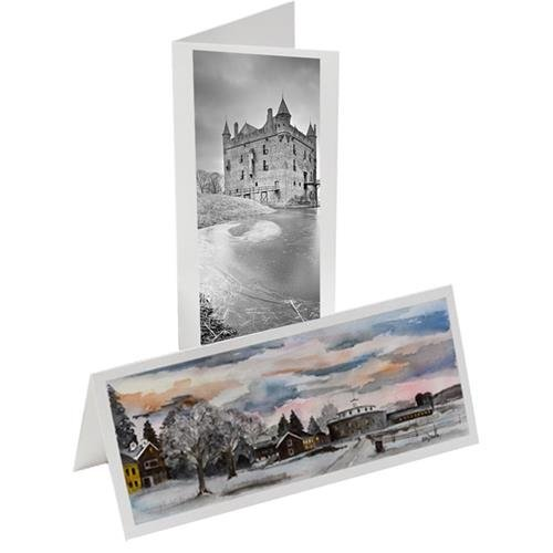 Museo #10 Panoramic Style Two-Sided Matte, Archival Inkjet Artist Cards, 220gsm, 100 Pieces with Matching Envelopes, 14mil. Museo Artist Card Envelopes