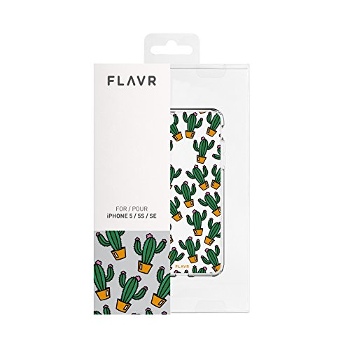 "flavr 27095iPlate Coque ""Cactus pour Apple iPhone 5/5S/SE Multicolore"