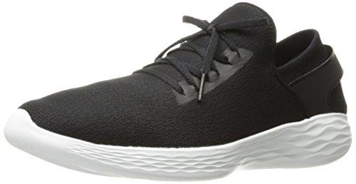 Slip Skechers Shoe White Black Women's on Inspire YOU tqqxvw8C