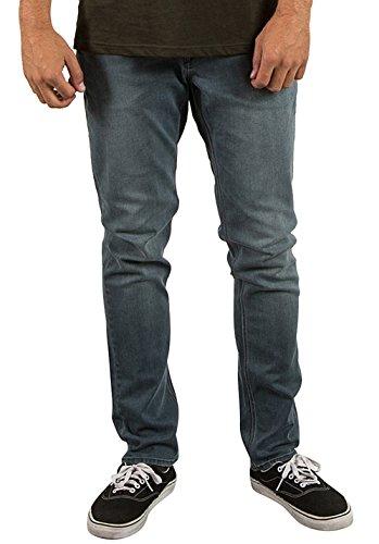 Volcom Solver Tapered - Pantalones Vaqueros Hombre azul (enlightened stoned)