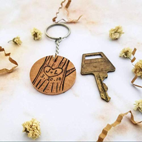 Amazon com: Customizable couples initials and date keychain