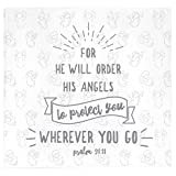 Christian Baby Swaddle Bible Quote Blanket and Cap