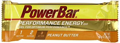 PowerBar Performance barra, mantequilla de cacahuete, 2.29 onzas Bar (Pack de 12)