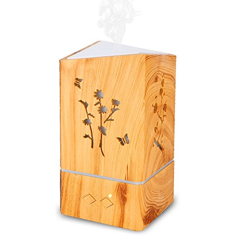 Aromatherapy Oil Diffuser Ultrasonic Air Humidifier Scent Mist Spa Yoga Room Home Auto Shut off Portable Travel Size ()