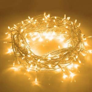 Persome 15m 50 LED Yellow Rice String Light Fairy Light Christmas Home Decoration Light,Copper Wire Indoor Outdoor Bedroom Christmas Tree Lights Indoor Outdoor Decoration Fairy Light Set of 1