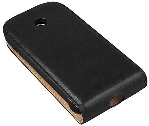 mumbi PREMIUM Leder Flip Case für Motorola Moto E Tasche (passt NICHT mit Moto E 2.Gen.) pWCfMq