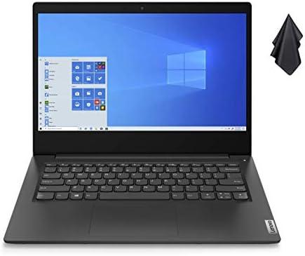 """2021 Newest Lenovo Ideapad 3 Premium Laptop, 14"""" HD Display, Intel Pentium Gold 6405U 2.4 GHz, 8GB DDR4 RAM, 128GB NVMe M.2 SSD, Bluetooth 5.0, Webcam, WiFi, HDMI, Windows 10 S, Black + Oydisen Cloth WeeklyReviewer"""