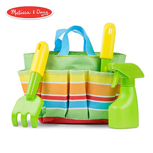 (Melissa & Doug Sunny Patch Giddy Buggy Toy Gardening Tote Set With Tools)