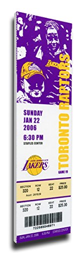 That's My Ticket Kobe Bryant 81 Point Game Mega Ticket Wall Decor, Los Angeles Lakers