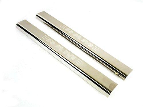 Mopar Genuine Dodge RAM Accessories 82212427AB Stainless Steel Door Sill Guard with RAM's Head Logo