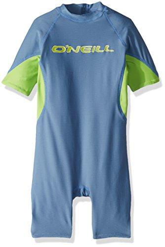 ne UPF 50+ Short Sleeve Spring Suit, Blue/Lime/White, 1 ()