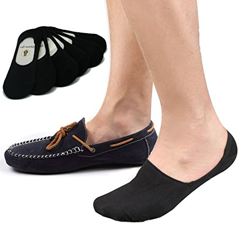 No Show Socks 8BESS GIFT Mens Socks Low Cut Non-Slip Grips (Pack of 6)M