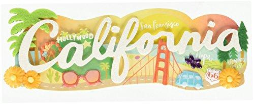 Jolees Jolee's Boutique Title waves Dimensional Stickers-California, Multi (Scrapbooking California)