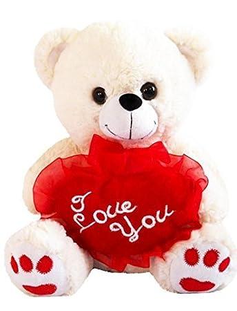 White 12 plush teddy bear says i love you and kissing sound with white 12quot plush teddy bear says quoti love youquot and kissing sound voltagebd Gallery