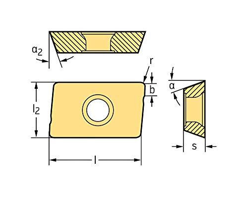 10 Pack Walter Carbide Milling Insert ADGT10T3PER-D67 WSM35