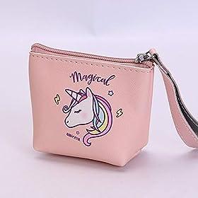 - 41LeLedvddL - VLalin Unicorn Gift Set Unicorn Purse/Necklace/Lace Choker/Keychain/Head Clip/Headband