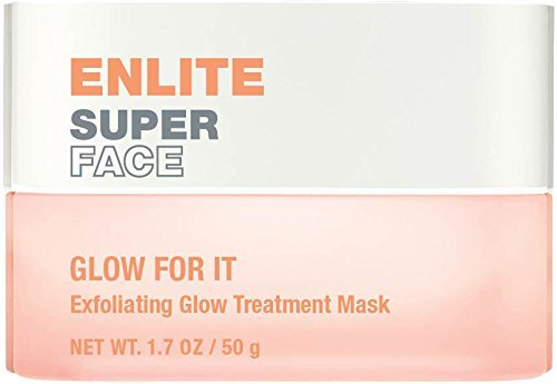 Enlite Super Face GLOW FOR IT Exfoliating Glow Treatment Mask, 1.7 OZ No Parabens, No Sulfates, No Animal -