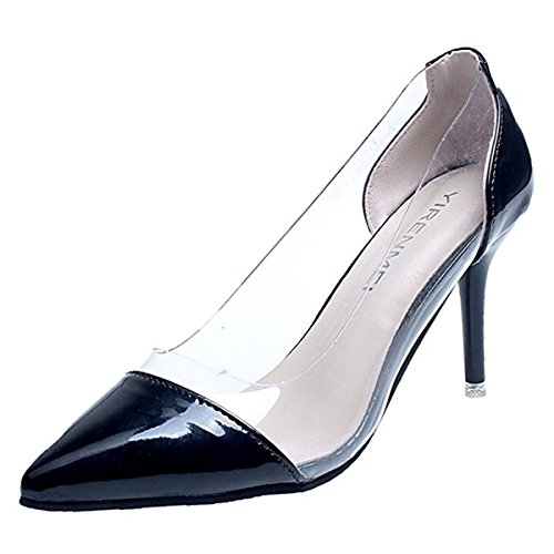 Rouge Talon Talons EU36 CN35 Chaussures Black UK3 Beige US5 L'Extérieur Pour Automne Pour Bas Femmes Caoutchouc 5 en 5 Printemps Blanc Confort Noir DIMAOL fR0qzaa