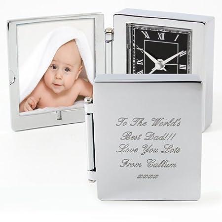 Personalised Photo Frame Travel Clock - Free Engraving - Wedding ...