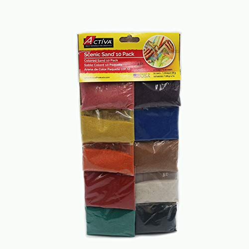 Sand Scenic Products Activa - Activa 10-Pack Scenic Sand in Vivid Colors, 1-Ounce