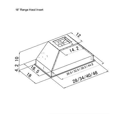 Z Line 695-28 Deep Stainless Steel Range Hood Insert