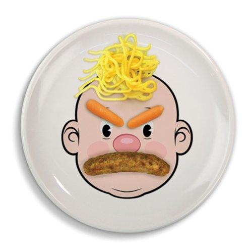 Fred & Friends MR FOOD FACE Kids' Ceramic Dinner Plate