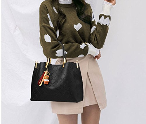 Faux Bags Top Handle Shoulder Pink Handbags Body Cross Bags Bags Women's Leather qOZtfxp