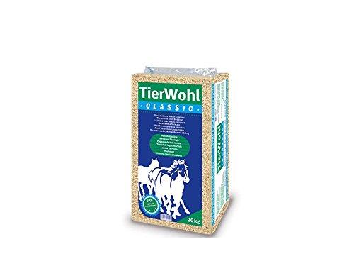 20 kg TierWohl Classic Pferdeeinstreu Boxen Einstreu Weichholzspäne Ballen Rettenmeier