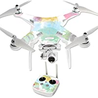 MightySkins Protective Vinyl Skin Decal for DJI Phantom 3 Professional Quadcopter Drone wrap cover sticker skins Watercolor White