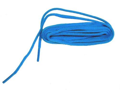 60 Inch Brilliant Neon Blue Oval Athletic Shoe Sneaker Laces Shoelaces (2 Pair Pack)