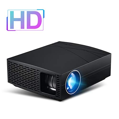 BeVision C80W Projector, Full HD w/Native 1280x720P WXGA(Support 1920x1200 WUXGA), Portable LED Video Beam for Indoor Outdoor Party Movie Game Theater, Works with TV Stick, PS4, HDMI, VGA, AV, USB