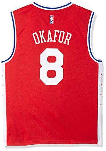 fan products of NBA Men's Philadelphia 76ers Okafor Replica Player Alternate Road Jersey, Large, Red