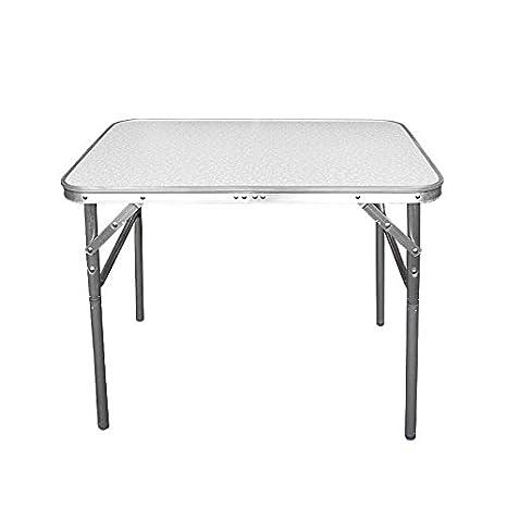 Wohaga® Mesa de Camping plegable aluminio 75 x 55 x 60 cm transportable – Mesa plegable Mesa de jardín Mesa auxiliar Mesa plegable Mesa de pícnic Mesa ...