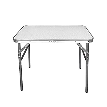 Wohaga® Table de camping pliable en aluminium 75 x 55 x 60 cm avec fonction  de transport – Table pliante Table de jardin Table d\'appoint pliable ...
