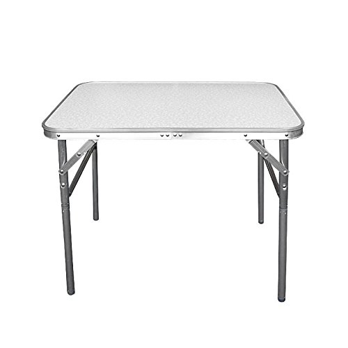Wohaga® folding aluminium camping table with carrying function, 75 x 55 x 60 cm