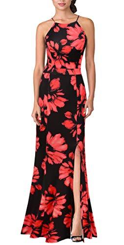 Rouge Halter Vintage Demoiselle Robe Soirée D'honneur Mmondschein Femmes Fleur Mariage Longue De v67BwROq