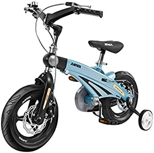 Comeon Kids Bike 12/14/16 Inch Children's Bicycle Foldable Balance Bicycle with Training Wheels for Boys and Girls