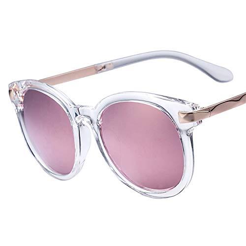 ea29c86a20 NIFG Gafas de sol redondas reflexivas rosadas redondas de Rose Gold Pink  Gafas de sol de la personalidad