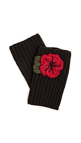 Kate Spade New York Women's Crochet Poppy Arm Warmers, Black, One ()