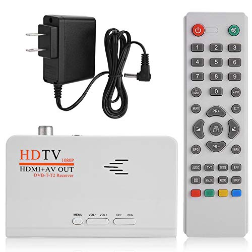 (Value-5-Star - HD TV Box 1080p HDMI+AV out USB2.0 DVB-T2 Receiver TV BOX Set-top Boxes Digital Terrestrial Receiver For TV With Remote Control)