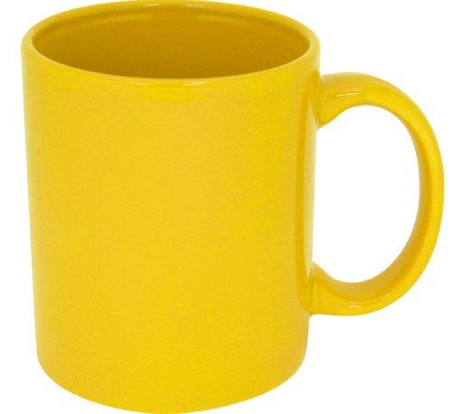 Plain Coffee Mug-- Yellow -- High Quality Ceramic Mug!! (11oz, Yellow)