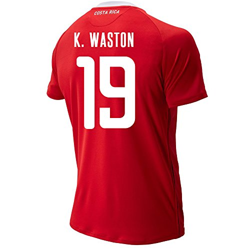 New Balance K. WASTON #19 Costa Rica Home Soccer Men's Jersey FIFA World Cup Russia 2018 (M)