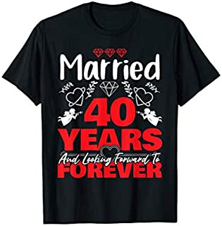 [Featured] Husband, Wife gift Married 40 years ago Marriage anniversary in ALL styles | Size S - 5XL
