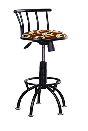 - The Furniture Cove 1 - Redskins Football Theme Black Metal Finish Swivel Seat Adjustable 24