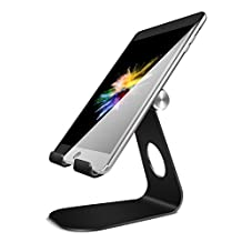Tablet Stand, Lamicall Adjustable iPad Stand : Desktop Stand Holder Dock Mount for new iPad 2017 Air 2 3 4 Pro 9.7 12.9 10.5 mini, kindle, Nexus, Accessories, Samsung Tab and Other Tablets (4-13 inch) - Black
