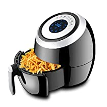 MDYYD Air Fryer Multifunctional Air Fryer Household 5.5L Large Capacity Fume Free Electric Fryer Electric hot air Fryer (Color : Black, Size : 35.8x30.2x35.4cm)