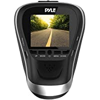 Pyle PLDVRCAM25 -1080p Dash Cam HD Dashboard Driving Camera for Cars and Vehicles with Night Vision - Discrete and Secure Window Mount - Snap Images and Record Video